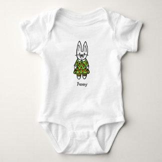 Body Para Bebê Moeda de um centavo personalizada o coelho