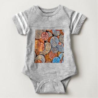 Body Para Bebê Moeda inventada