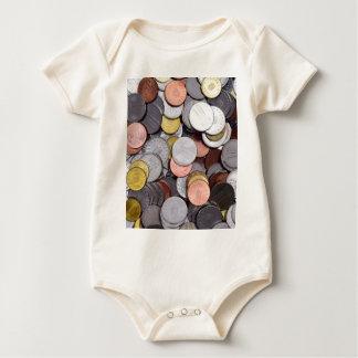 Body Para Bebê moedas romenas