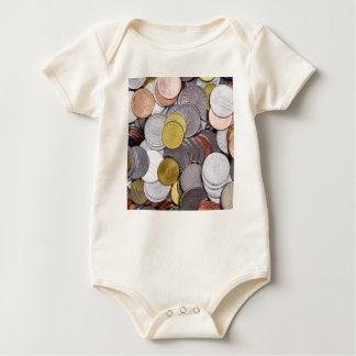 Body Para Bebê Moedas romenas da moeda