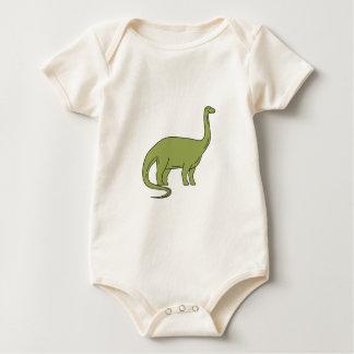 Body Para Bebê Mono linha do Brontosaurus