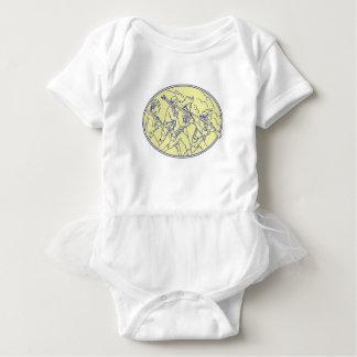 Body Para Bebê Mono oval de marcha dos soldados revolucionários