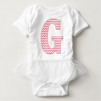 Body Para Bebê Monograma cor-de-rosa clássico formal de G da