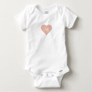 Body Para Bebê Monograma feito sob encomenda da letra do bebê
