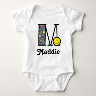 Body Para Bebê Monograma M de Emoji do Bodysuit do monograma do