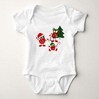Body Para Bebê Monstro bonitos do Natal do feriado