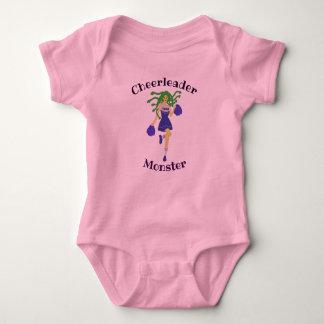 Body Para Bebê monstro do cheerleader