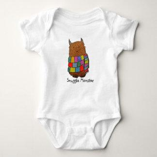 """Body Para Bebê Monstro do """"monstro"""" Babygrow do inverno Snuggle"""