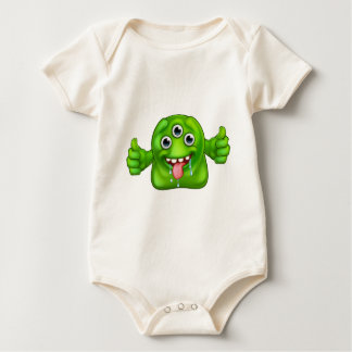 Body Para Bebê Monstro estrangeiro bonito verde