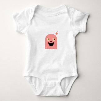 Body Para Bebê Monstro pequeno bonito no branco