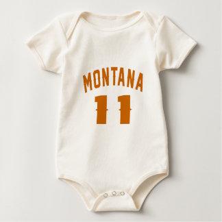 Body Para Bebê Montana 11 designs do aniversário