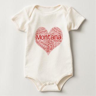 Body Para Bebê Montana-coração