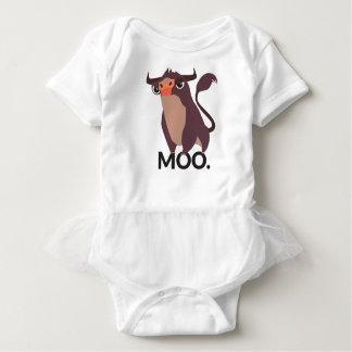 Body Para Bebê MOO, design médio da vaca