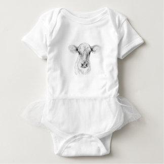 Body Para Bebê MOO uma vaca nova do jérsei