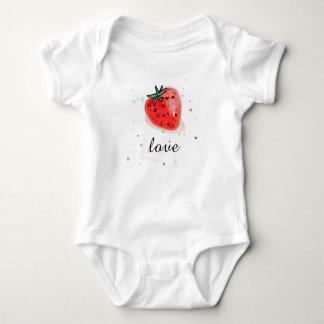 Body Para Bebê Morango natural fresca da fruta para o bebê