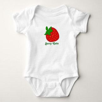 Body Para Bebê Morango vermelha bonito da baga