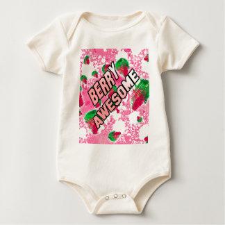 Body Para Bebê Morangos frutados impressionantes da baga