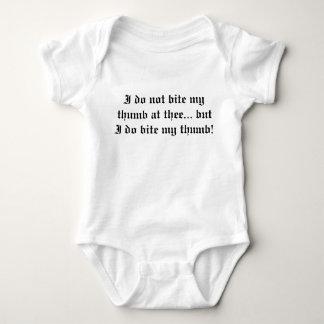 Body Para Bebê Morda meu polegar