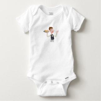 Body Para Bebê Mordomo perfeito do Hotdog dos desenhos animados