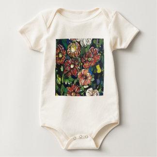 """Body Para Bebê """" Mosaico Garden"""". Acrílicos em"""
