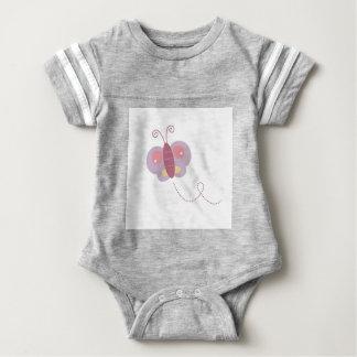 Body Para Bebê Mosca da manteiga do design no branco