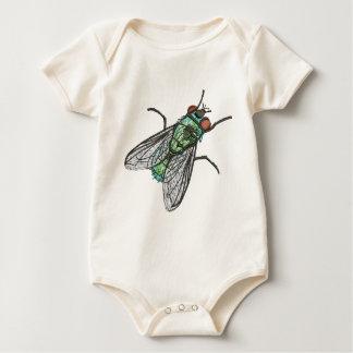 Body Para Bebê mosca verde