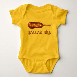 Body Para Bebê Mostarda do cão de milho do miúdo TX Texas Corndog
