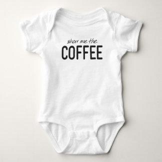 Body Para Bebê Mostre-me o café impressão engraçado
