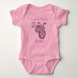 Body Para Bebê Motocicleta, rastejamento, caminhada, passeio!