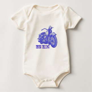 Body Para Bebê Motociclista do bebê azul