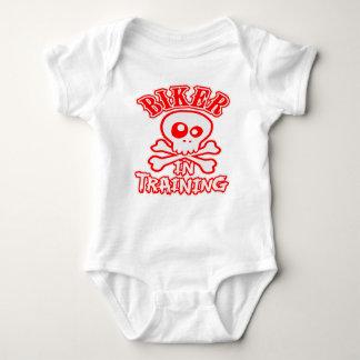 Body Para Bebê Motociclista no treinamento