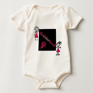 Body Para Bebê Mulheres políticas da vara de Resisterhood do