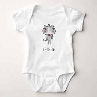 Body Para Bebê Multa felino