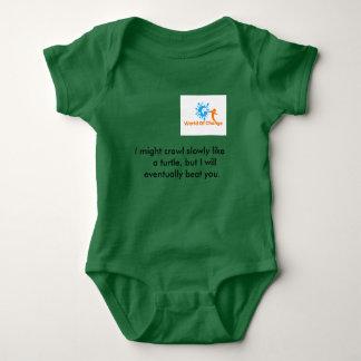 """Body Para Bebê Mundo do t-shirt"""" tartaruga bonito """" da mudança"""