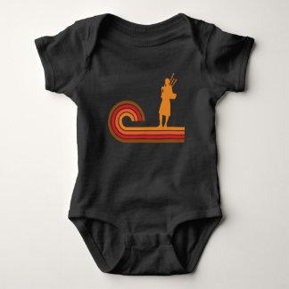 Body Para Bebê Música retro da silhueta dos Bagpipes do estilo