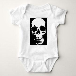 Body Para Bebê Na moda preto & branco do crânio do pop art legal