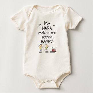 Body Para Bebê Nana faz-me Sooo Bodysuit feliz do bebê