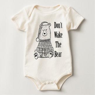 Body Para Bebê Não acorde o urso