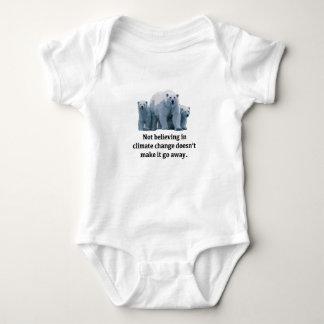 Body Para Bebê Não acreditando nas alterações climáticas