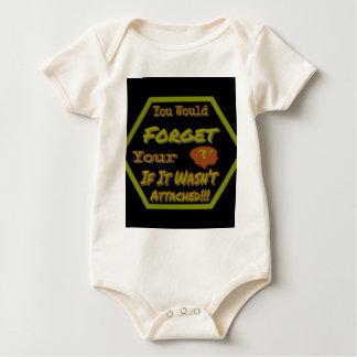 Body Para Bebê Não esqueça seu verde da cabeça