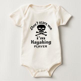 Body Para Bebê Não faz o susto mim que eu sou jogador Kayaking