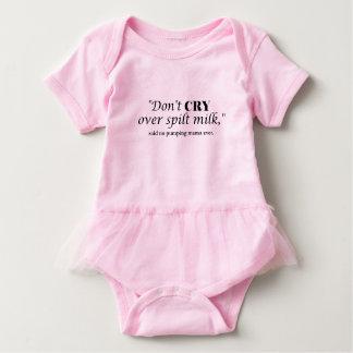 """Body Para Bebê """"Não grita o leite sobre derramado"""" disse não o"""