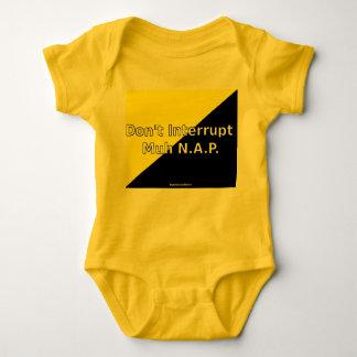 Body Para Bebê Não interrompa o Bodysuit de Muh N.A.P. Bebê