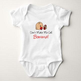 Body Para Bebê Não me faça a chamada Bomma