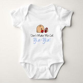 Body Para Bebê Não me faça a chamada Yia-Yia