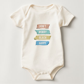 Body Para Bebê Não preocupe a PRAIA feliz - impressão da praia do