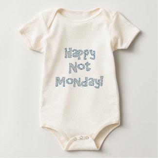 Body Para Bebê Não segunda-feira feliz!