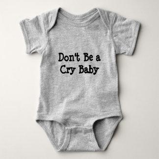 Body Para Bebê Não seja um onsie do bebê de Cary