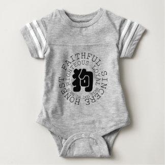 Body Para Bebê Nascer do bebê do zodíaco do cão da personalidade