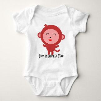 Body Para Bebê Nascer no macaco dos desenhos animados do ano do